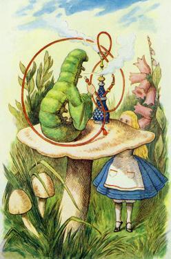 Alice Meets the Caterpillar, Illustration from Alice in Wonderland by Lewis Carroll by John Tenniel