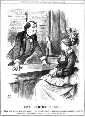 Disraeli, Civil Service by John Tenniel