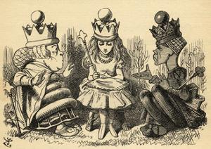 Manners and Lessons, Illustration from 'Through the Looking Glass' by Lewis Carroll (1832-98)… by John Tenniel