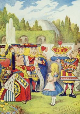 Queen Has Come! and Isn't She Angry, Illustration from Alice in Wonderland by Lewis Carroll by John Tenniel