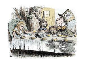 Scene from Alice's Adventures in Wonderland by Lewis Carroll, 1865 by John Tenniel