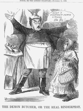 The Demon Butcher, or the Real Rinderpest, 1865 by John Tenniel