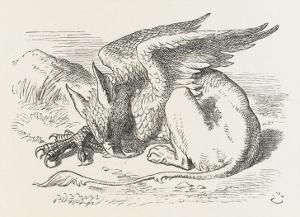 The Griffin Asleep by John Tenniel
