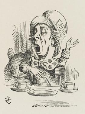 The Hatter Sings by John Tenniel