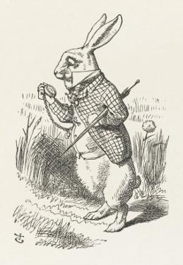 The White Rabbit Checks His Watch by John Tenniel
