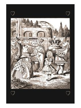 Through the Looking Glass: The Queen's Croquet Ground by John Tenniel