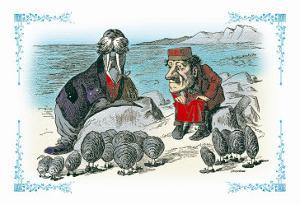 Through the Looking Glass: Walrus, Carpenter and Oysters by John Tenniel