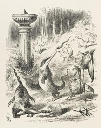 Toves Raths and Borogroves, Invented Creatures of the Jabberwocky Poem by John Tenniel