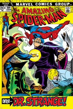 The Amazing Spider-Man No.109 Cover: Spider-Man, Dr. Strange, and Flash Thompson by John