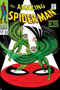The Amazing Spider-Man No.63 Cover: Vulture Flying by John