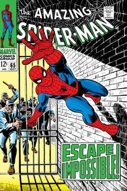 The Amazing Spider-Man No.65 Cover: Spider-Man Charging by John