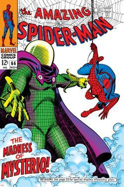 The Amazing Spider-Man No.66 Cover: Mysterio and Spider-Man Fighting by John