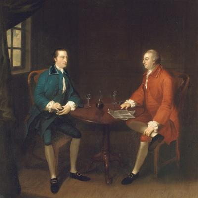Two Gentlemen Seated at a Table