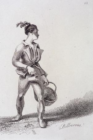 Bilberries, Cries of London, 1819