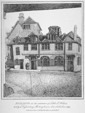 Building at the Entrance of Little St Helen'S, City of London, 1870