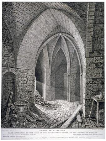 East Entrance to the Cell in the South-West Tower of the Tower of London, 1802