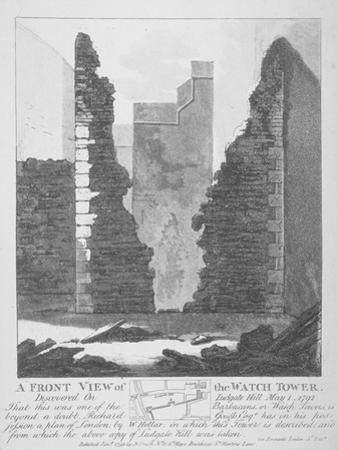 Front View of the Watch Tower on Ludgate Hill, City of London, 1793