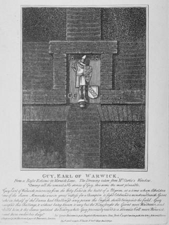 Guy, Earl of Warwick, Relief in Warwick Lane at the Corner of Newgate Street, City of London, 1791