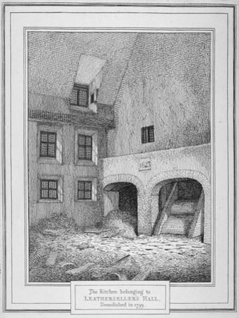 Interior View of a Kitchen, Leathersellers' Hall, Little St Helen'S, City of London, 1800