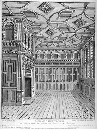 Interior View of Sir Paul Pindar's House, Bishopsgate, City of London, 1812