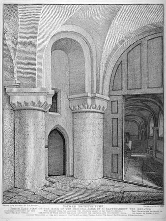 Interior View of the Church of St Bartholomew-The-Great, Smithfield, City of London, 1811