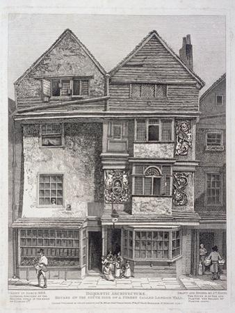 London Wall, London, 1808