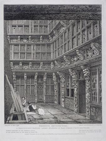 Mansion of Sir Richard (Dic) Whittington in Hart Street, Crutched Friars, London, 1812