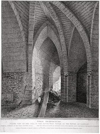 North View of the Cell in the South-West Tower of the Tower of London, 1802