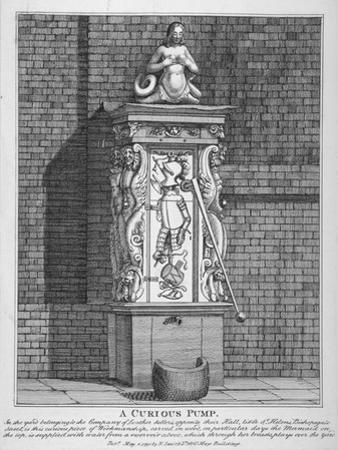 Ornate Water Pump in the Yard at Leathersellers' Hall, Little St Helen's, City of London, 1791
