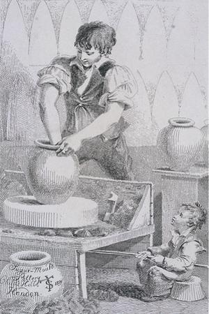 Potter at Work, Cries of London, C1819