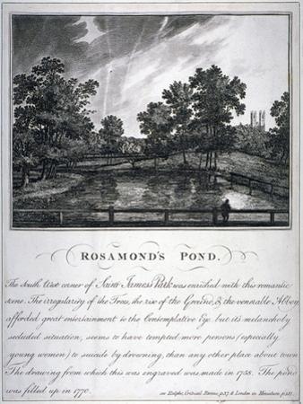Rosamond's Pond, St James's Park, Westminster, London, 1791