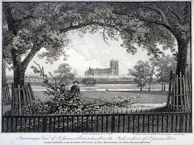 St James Park, from the Mall in Front of St James's Palace, Westminster, London, 1807