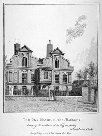 View of a Manor House on Shacklewell Green, Hackney, London, 1800