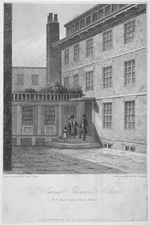 View of No 8 Bolt Court, Where Dr Samuel Johnson Lived, City of London, 1835