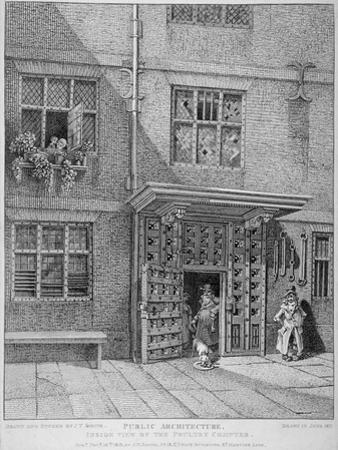View of the Poultry Compter, City of London, 1813