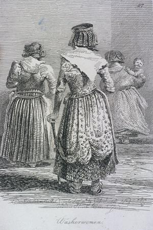 Washerwomen, Cries of London, (C1819)