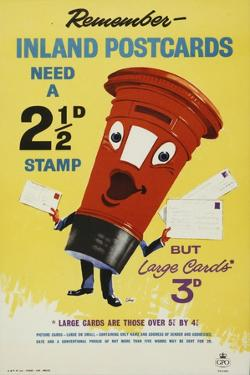 Remember Inland Postcards Need a 2¢D Stamp by John Thomas Young Gilroy