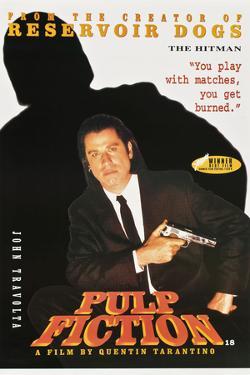 "JOHN TRAVOLTA. ""Pulp Fiction"" [1994], directed by QUENTIN TARANTINO."