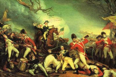 Death of General Mercer at the Battle of Princeton Against the Hessians