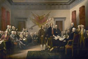 Signing the Declaration of Independence, July 4th, 1776 by John Trumbull