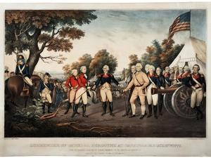 Surrender of General Burgoyne at Saratoga N.Y. Oct 17th 1777 New York, Print Made by Nathaniel… by John Trumbull
