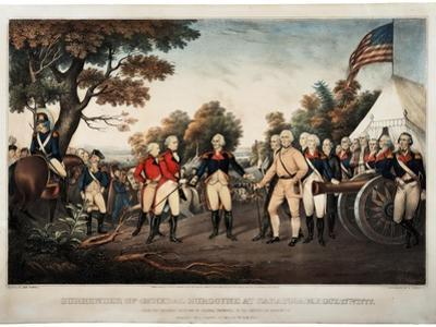 Surrender of General Burgoyne at Saratoga N.Y. Oct 17th 1777 New York, Print Made by Nathaniel…