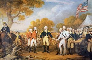 Surrender of General Burgoyne at Saratoga, New York, 17 October 1777 by John Trumbull