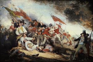The Battle of Bunker Hill by John Trumbull