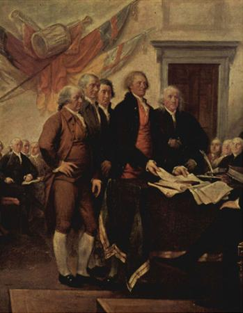 John Trumbull (The Declaration of Independence, detail) Art Poster Print