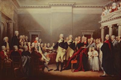 The Resignation of George Washington on 23rd December 1783, C.1822