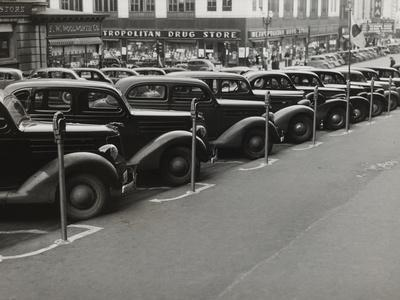 Black Cars and Meters, Omaha, Nebraska, c.1938