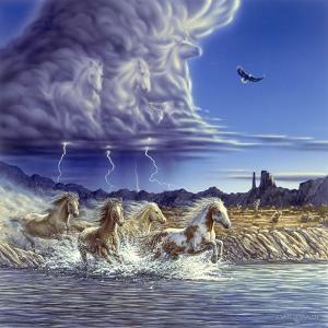 Thundering Hooves by John Van Straalen