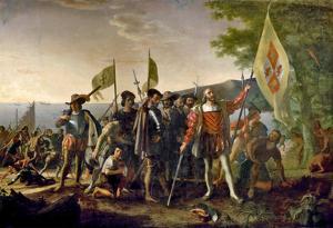 John Vanderlyn Landing of Columbus Art Print Poster