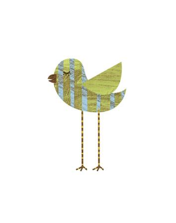 Blue and Green Striped Bird by John W. Golden